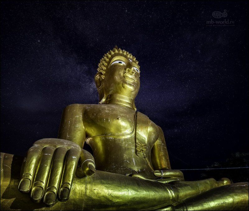 Таиланд, Паттая, будда, ночь, звезды Связь со вселенной...photo preview
