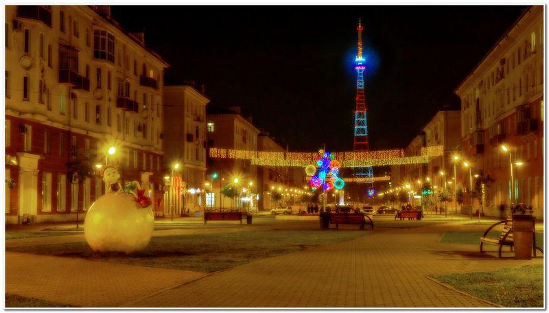 город, проспект, ночь  Ночной проспект! photo preview