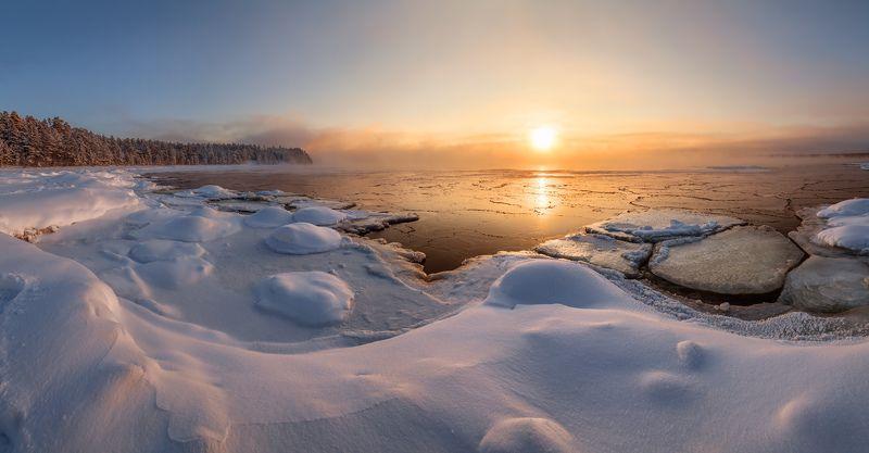 Ладога, Ладожское озеро, мороз, Ленинградская область  \