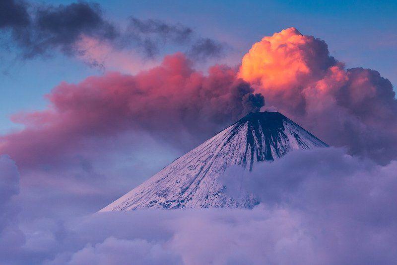 камчатка, закат, извержение, пепел, закат, природа, пейзаж, путешествие, фототур, Небесное пламяphoto preview