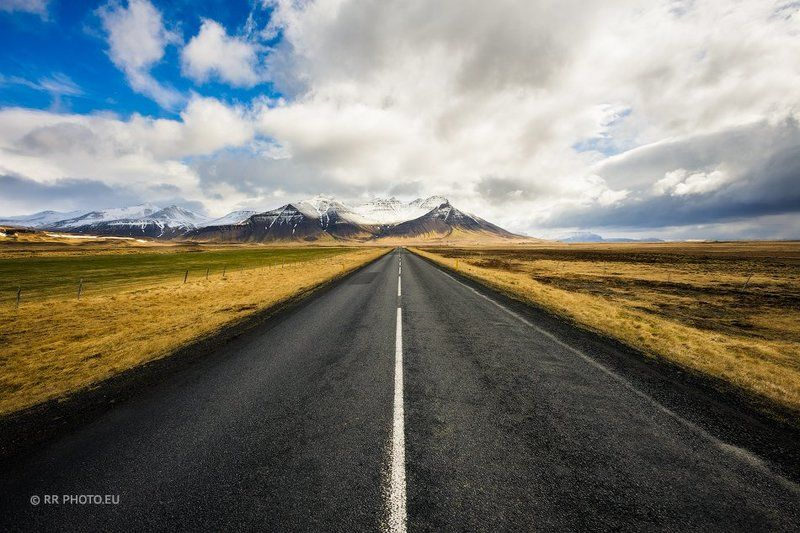 iceland, road, landscape, mountains, winter, sky, travel,  A Long Way Downphoto preview