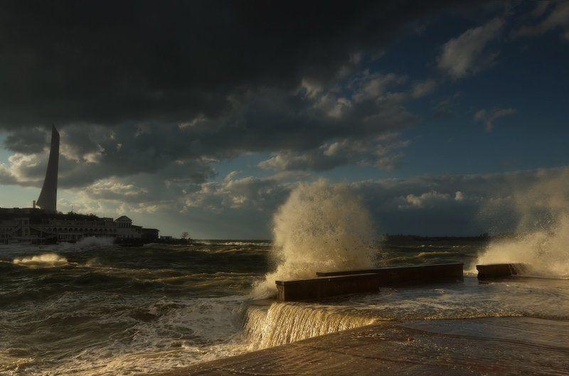 Landscape, Крым, Осень, Севастополь, Черное море, Шторм Штормит...photo preview