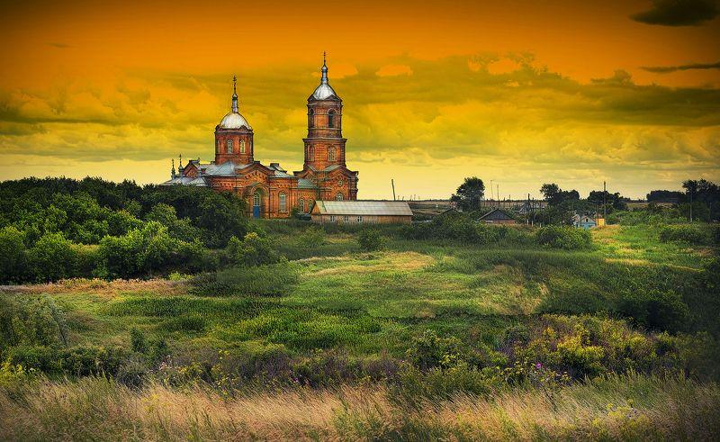 лето село церковь Давыдовкаphoto preview