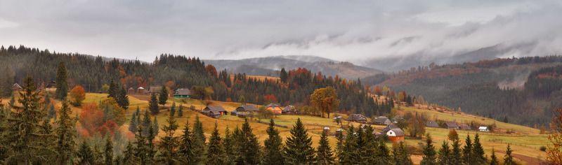 Карпаты, Октябрь, Осень, Украина, Горы Пасмурная осеньphoto preview