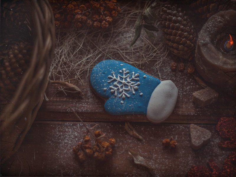 синяя варежка*photo preview