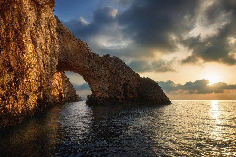 Greece, Kericaves, Zakinthos, Греция, Закинтос, Кери На рассветеphoto preview