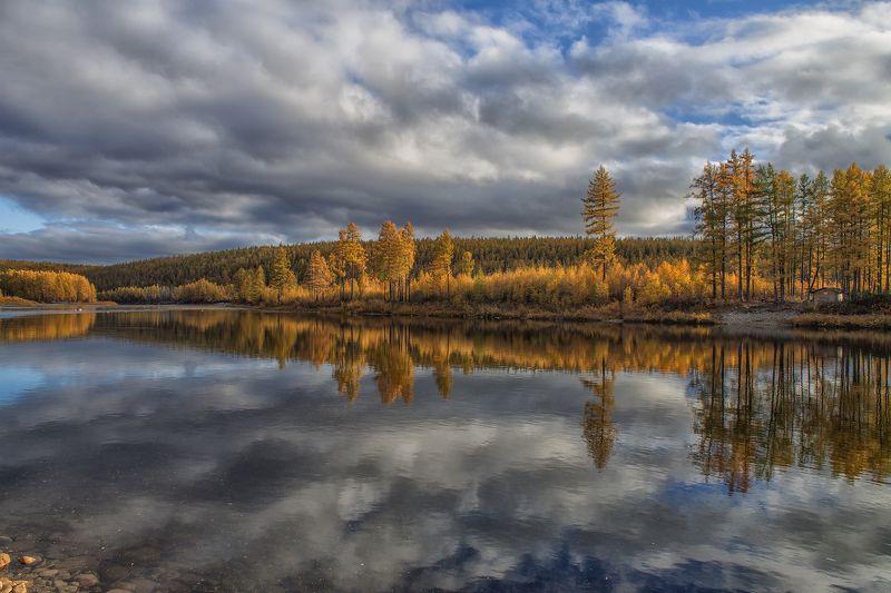 осень, якутия, река, река_чульман Сентябрьphoto preview