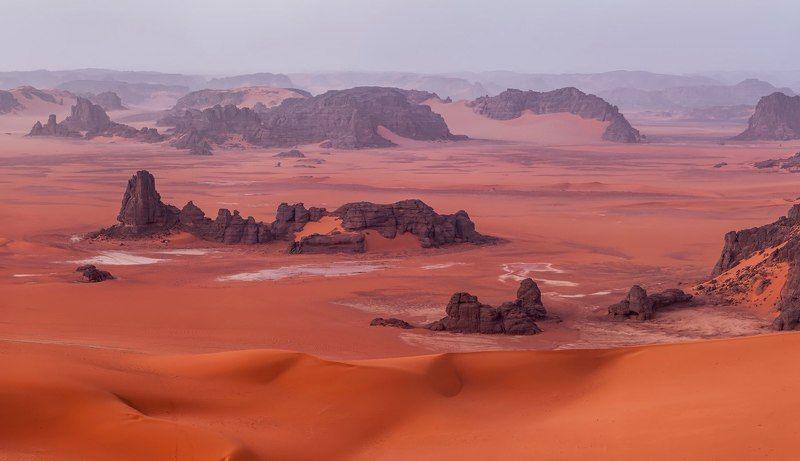 пустыня, Сахара, Алжир, Тадрарт \