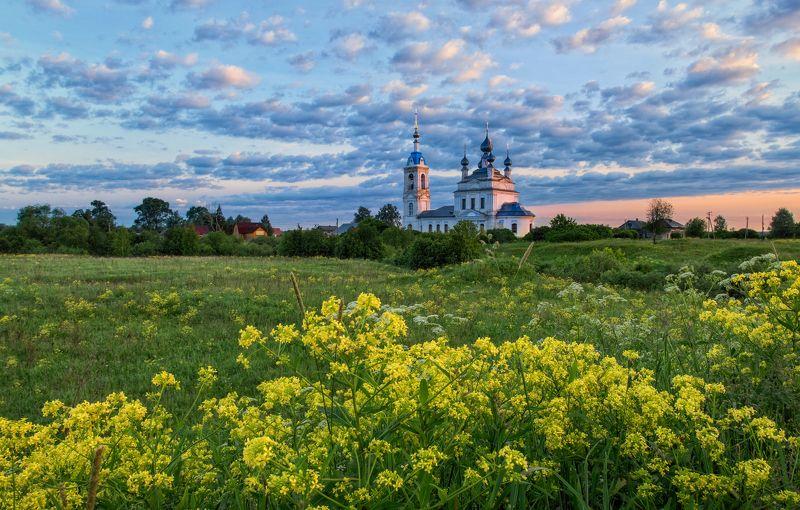 Савинское Россия пейзаж природа лето церковь  photo preview