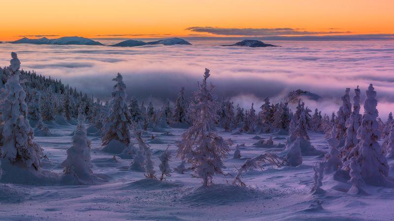 южный урал, зюраткуль, низкие облака Переменная облачностьphoto preview