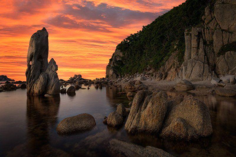 приморский край, море, солнце, рассвет, море, побережье Про разный отдыхphoto preview