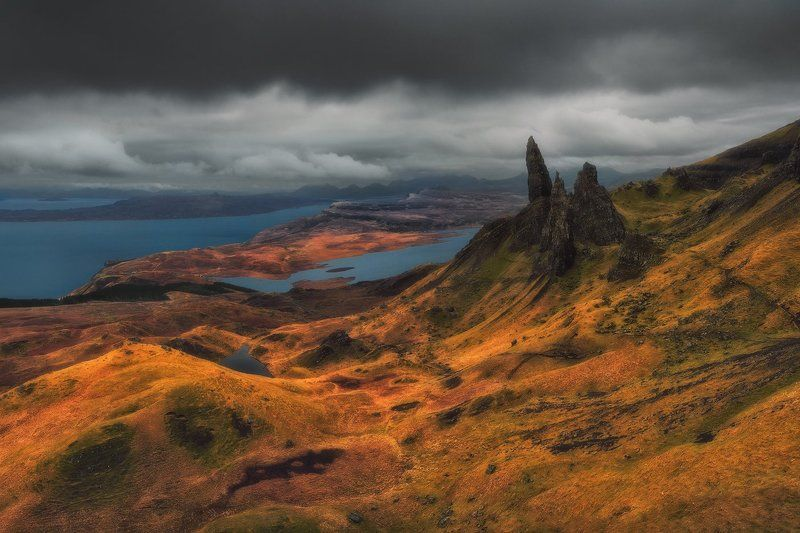 scotland, isle_of_skye, skye, travel, nd, long_exposure, nikon, uk, landscape, fine_art, highlands, heliopan, manfrotto, filters, water, colors, rgb, hills, mountains, The Old Man Of Storrphoto preview