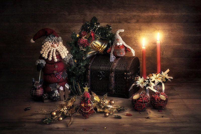 новый год, свечи, елка, дед мороз С наступающим... ! :)photo preview