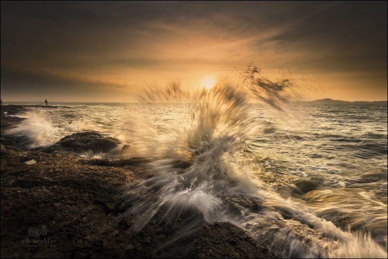 Тайланд, море, закат, волны, паттайя Закаты Сиамского залива...photo preview