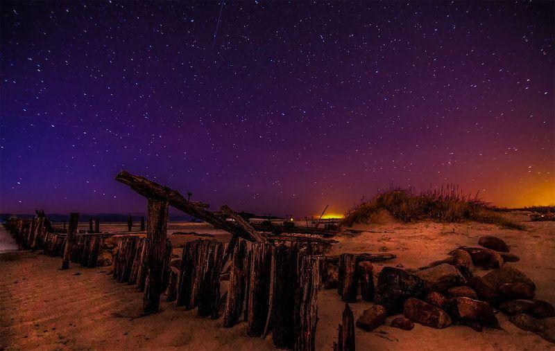 night,stars,dunes,bridge,sky,sea Night silence..photo preview