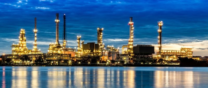 blue, chemical, chemistry, chimney, construction, energy, engineer, engineering, environment, equipment, factory, fuel, gas, gas-refinery, gasoline, global, heavy, industrial, industrial-plant, industry, light, manufacturing, metal, night, oil, petrochem Refinery plantphoto preview