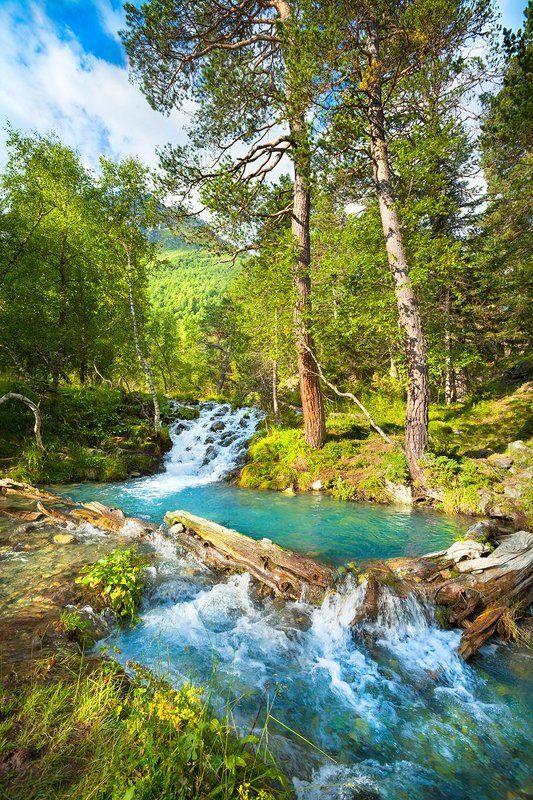 ручей, горы, природа, благодать Ванная Архызаphoto preview