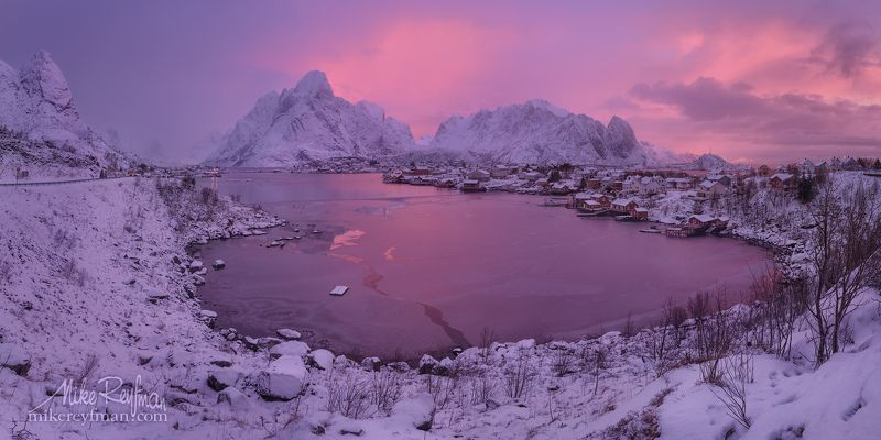 snowcapped mountain, lofoten, cloud - sky, cold temperature, color image, contrasts, frozen, horizontal, mountain, mountain range, nature, norway,  photography, scenics, sky, snow, tranquility, winter, town , fishing, cod, reine \
