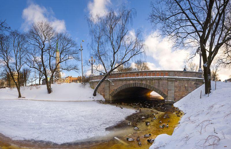 панорама город пейзаж рига латвия Зимняя Рига!photo preview