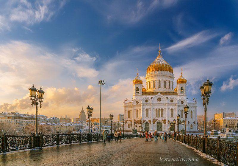 храм христа спасителя, зима, сочельник, праздник, россия, москва В Сочельник.photo preview