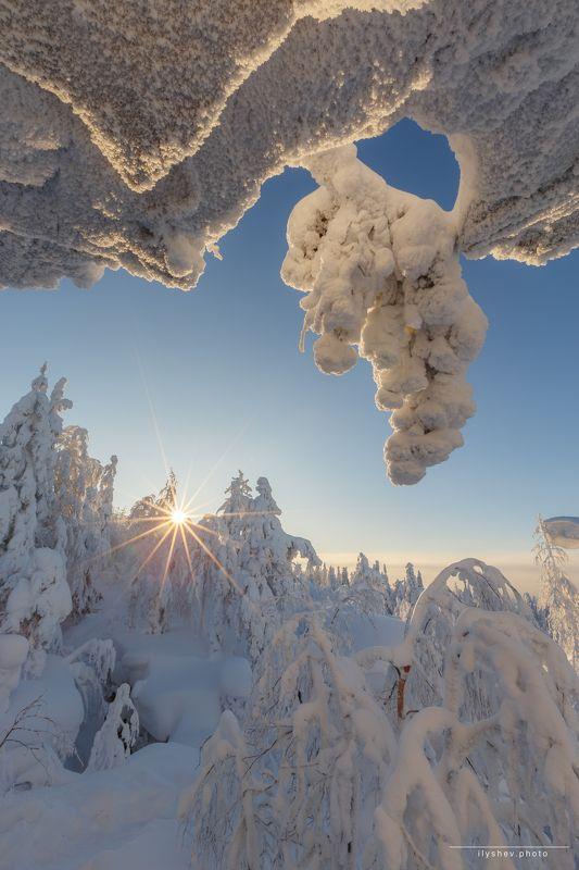 Урал, пейзаж, природа, солнце, морозное утро, мороз, Мороз и солнцеphoto preview