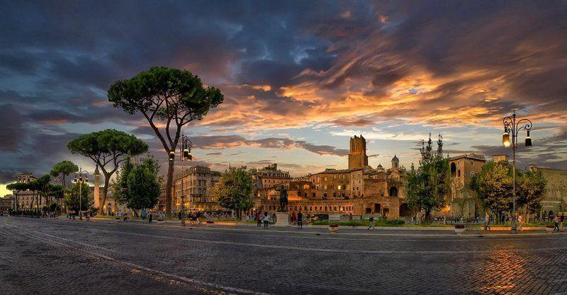 рим, италия, закат, небо, облака Вечный городphoto preview
