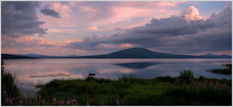 Закат на озере Зюраткульphoto preview