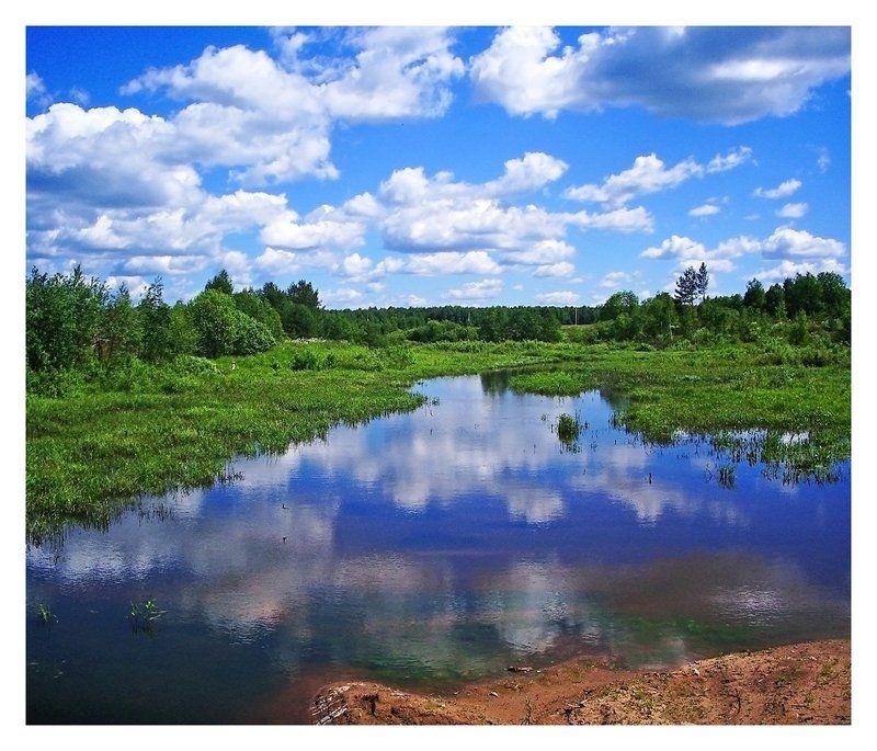 река,лето,небо,лето Истоки нашей рекиphoto preview
