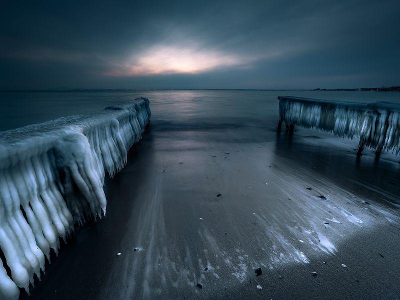 winter, nature, ice, sea, seascape, landscape, wave, water Frozenphoto preview