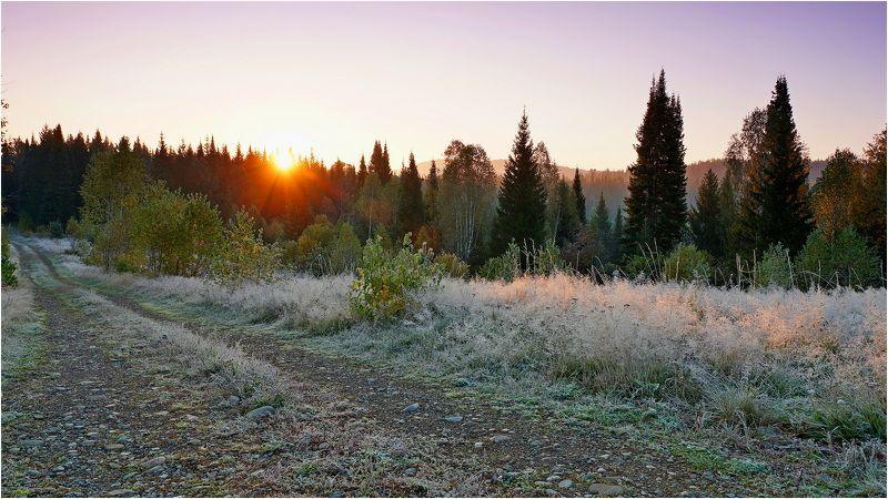 пейзаж, осень, утро, восход  Студеное утро! photo preview