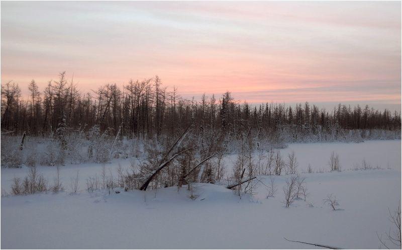 Таймыр,зима,Мороз Отблески солнцаphoto preview