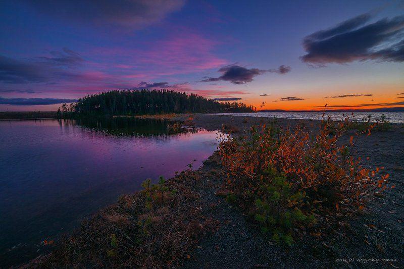 север, кольский, хибины, заполярье, имандра, Осенний вечерphoto preview