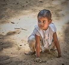 Детство в Индии.