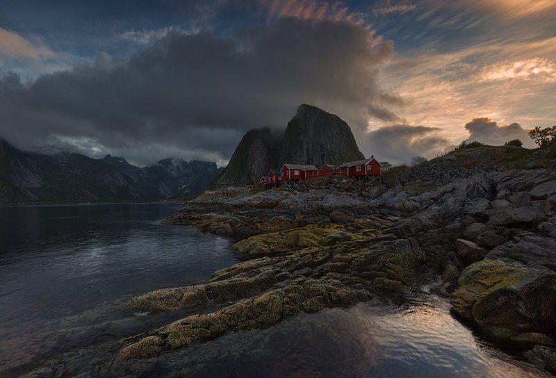 norway, норвегия, море, путешествие, lofoten, лофотены Morning at the Norwegian Sea.photo preview