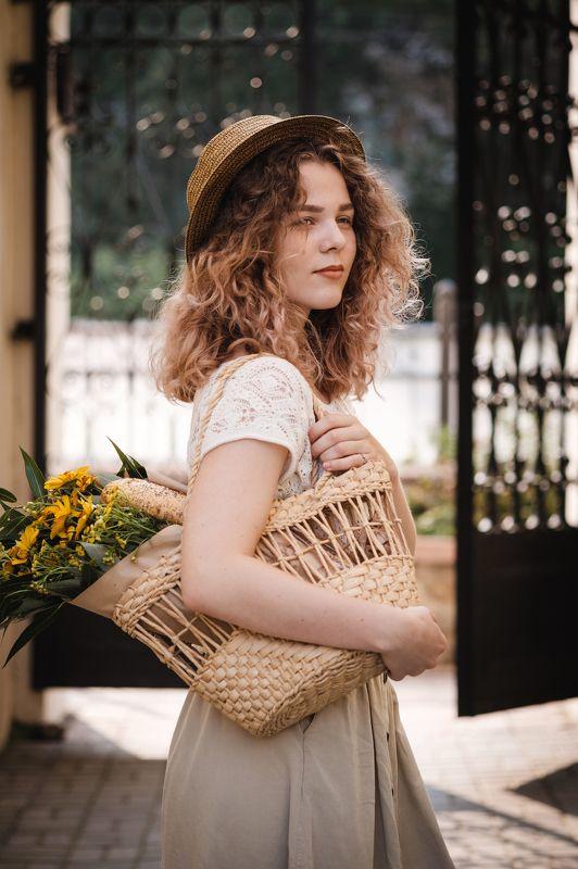 портрет девушка лето модель portrait art girl summer curly Света-кудряшкаphoto preview