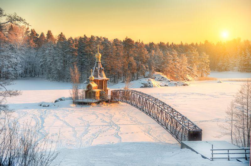 рождественское утро на Вуоксе...photo preview
