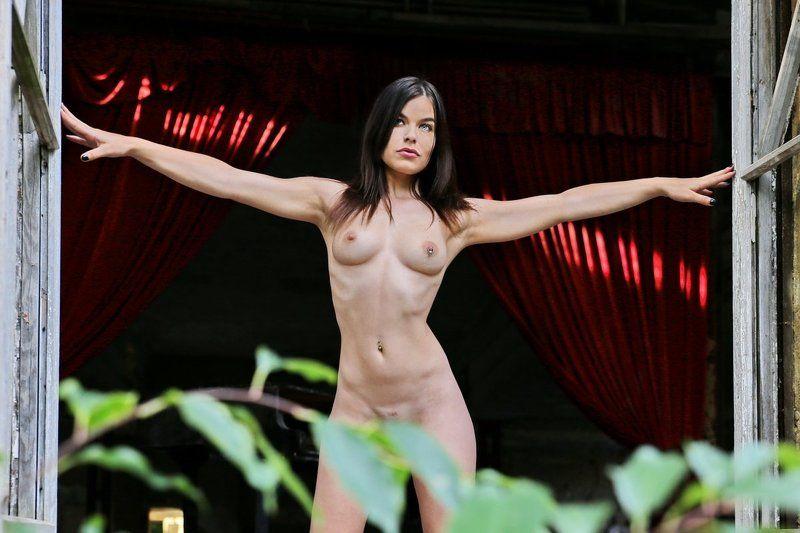 girl, window, nude, door Die Tür weit offen (The door wide open)photo preview