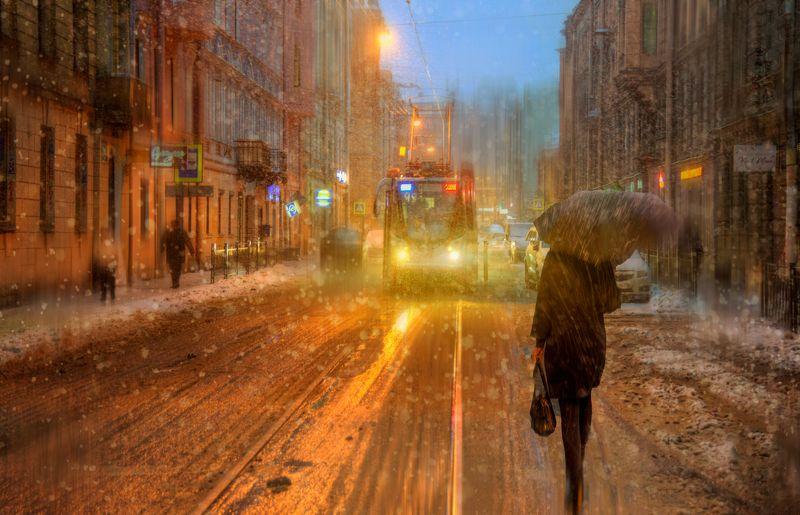 санкт, -петербург Снег идет...photo preview