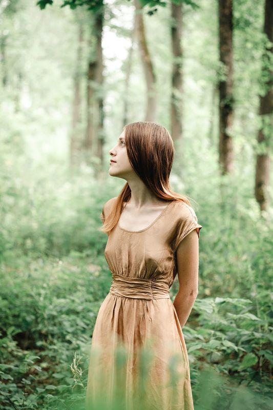 портрет девушка модель лето portrait art girl summer model forest Forest silencephoto preview