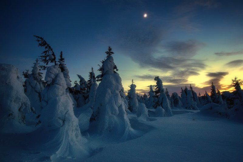 таганай, урал, горы, метео, зима Вечерний Таганайphoto preview