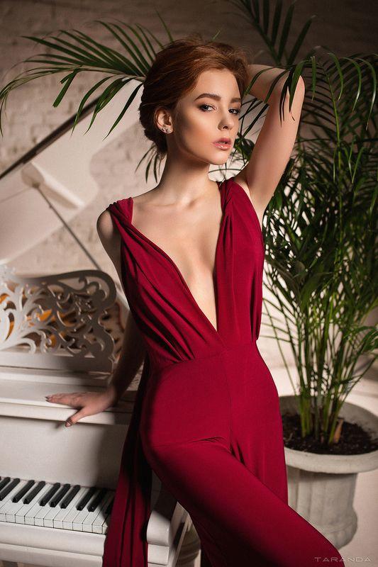 girl, kiev, ukraine, xxl, studio, portrait, night, sweet, redhead Piano Girlphoto preview