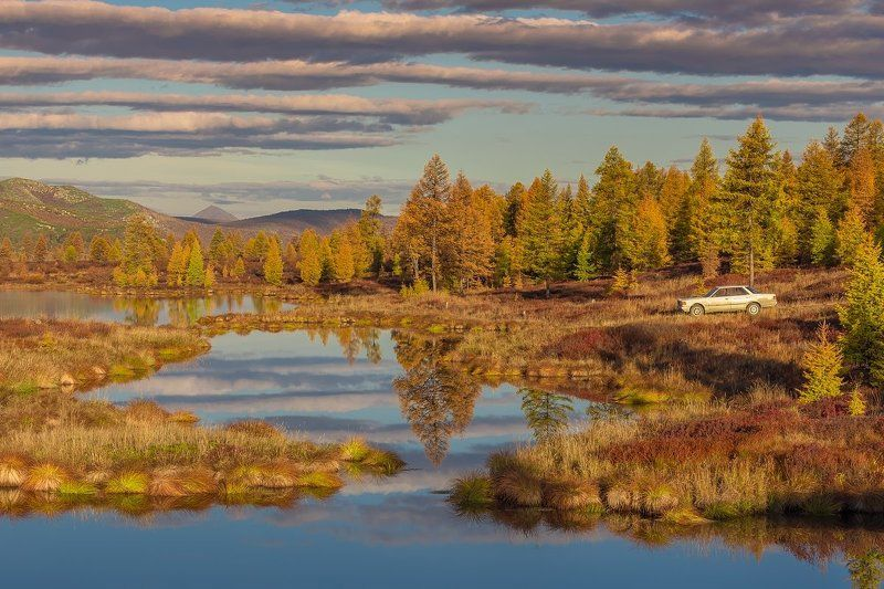 колыма, путешествие, магаданская область, эликчанские озера, крайний север, фототур на колыму Побережье утренней прохладыphoto preview