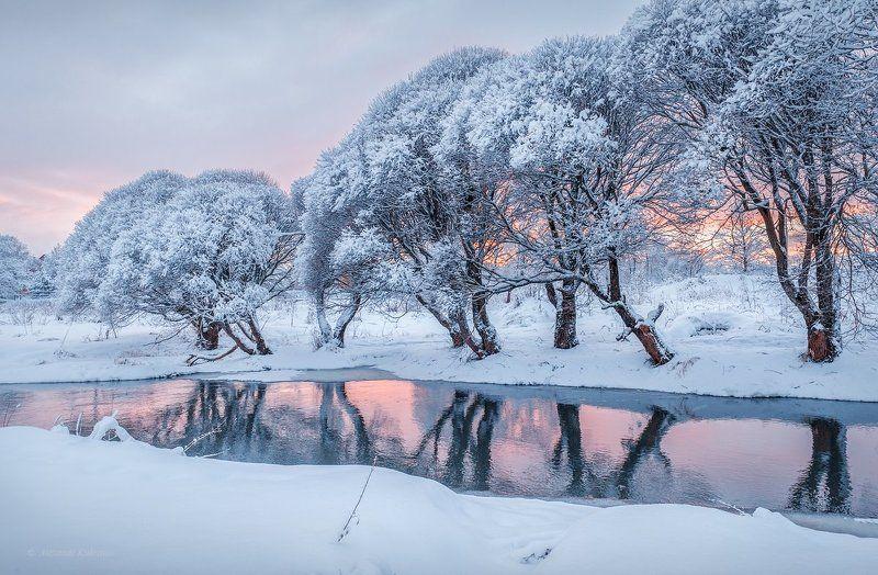 зима,рейзаж,река,вязьма Январский вечер.photo preview