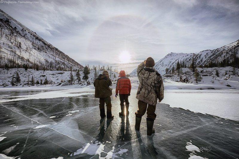 республика алтай, горный алтай, горы, мульта, озеро, зима \