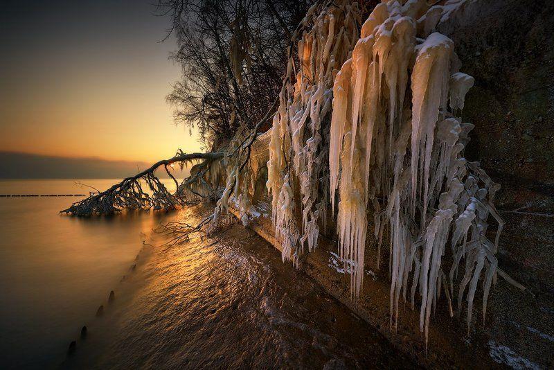 polska,bąłtyk,gdynia,zima Ice curtainphoto preview
