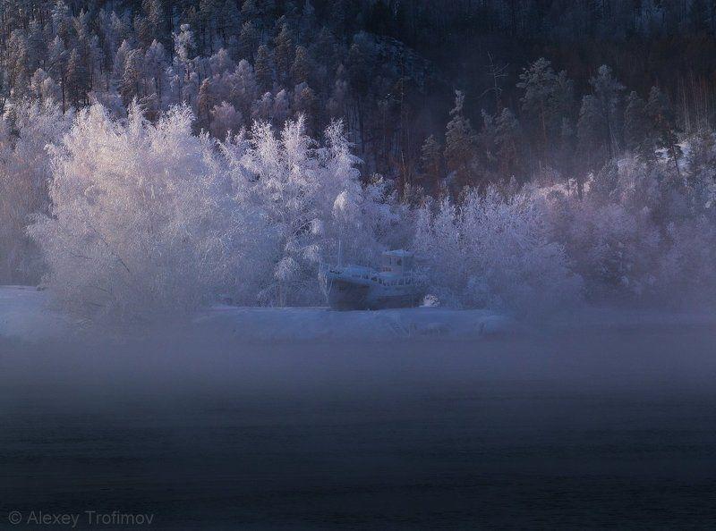 сибирь ангара пейзаж Замерзший Джазphoto preview