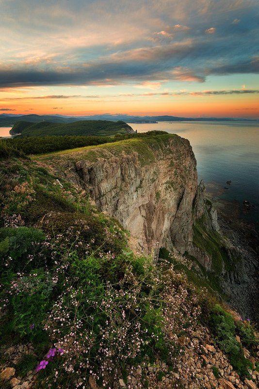 приморский край, заповедник, рассвет, море, солнце Приморский мысокphoto preview