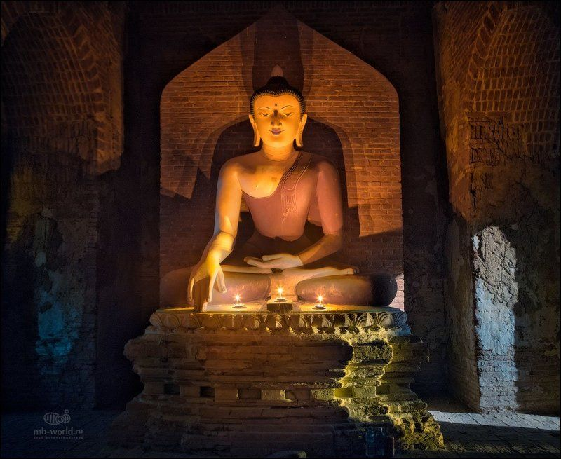 Бирма, Мьянма, ночь, пагода, Баган, MB-WORLD Ночь в пагоде Багана...photo preview