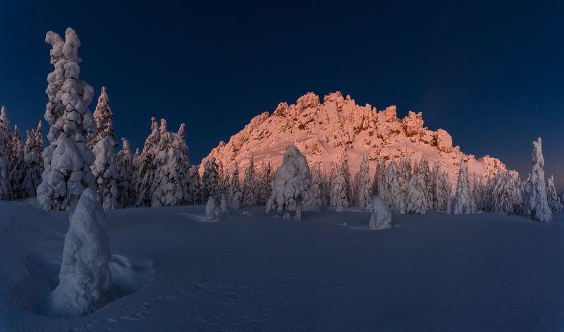 зима, урал, таганай, златоуст, рассвет, t_berg За час до рассветаphoto preview