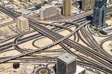 Транспортные артерии в Дубае.